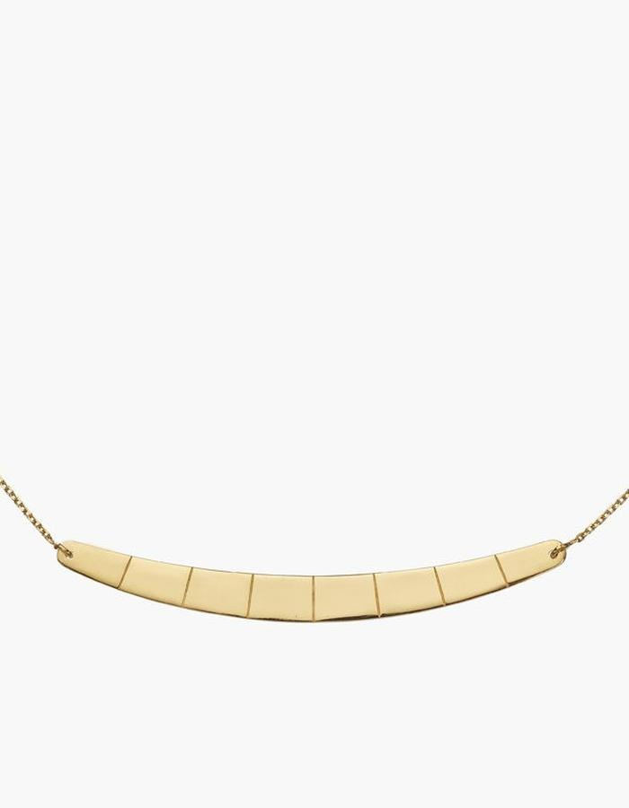 Juba Reversible Bar Necklace - gold