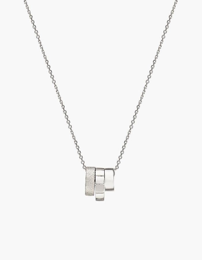Juba Stacking Pendant Necklace - silver