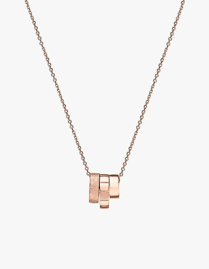 Juba Stacking Pendant Necklace - rose gold