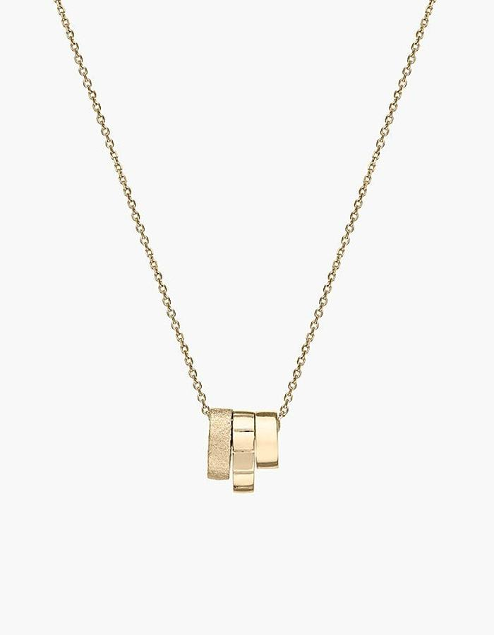 Juba Stacking Pendant Necklace - gold