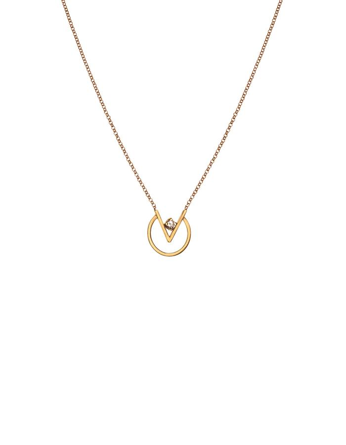 24K Gold plated minimal necklace with zirconia
