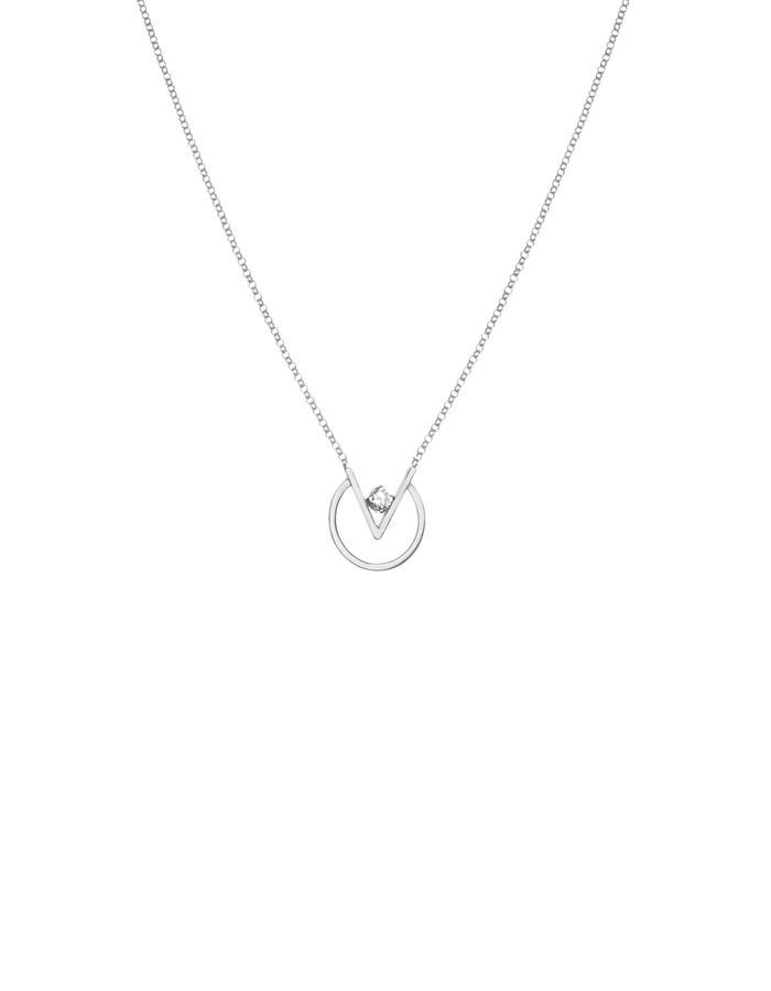 Minimal necklace with cubic zirconia 925 silver