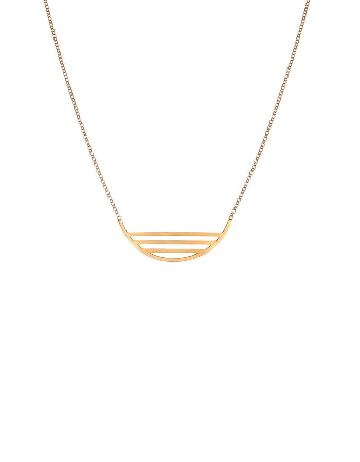 Silver with Gold plated minimal necklace