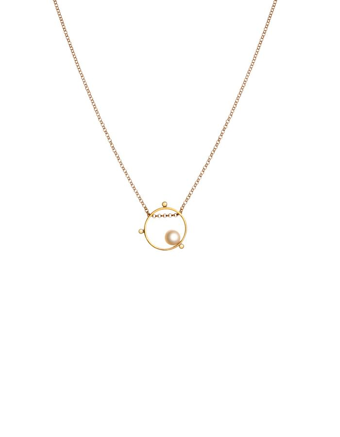24K Gold plated minimal necklace with pearl