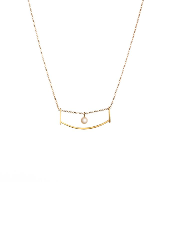 24 Karat gold plated necklace with freshwater pearl