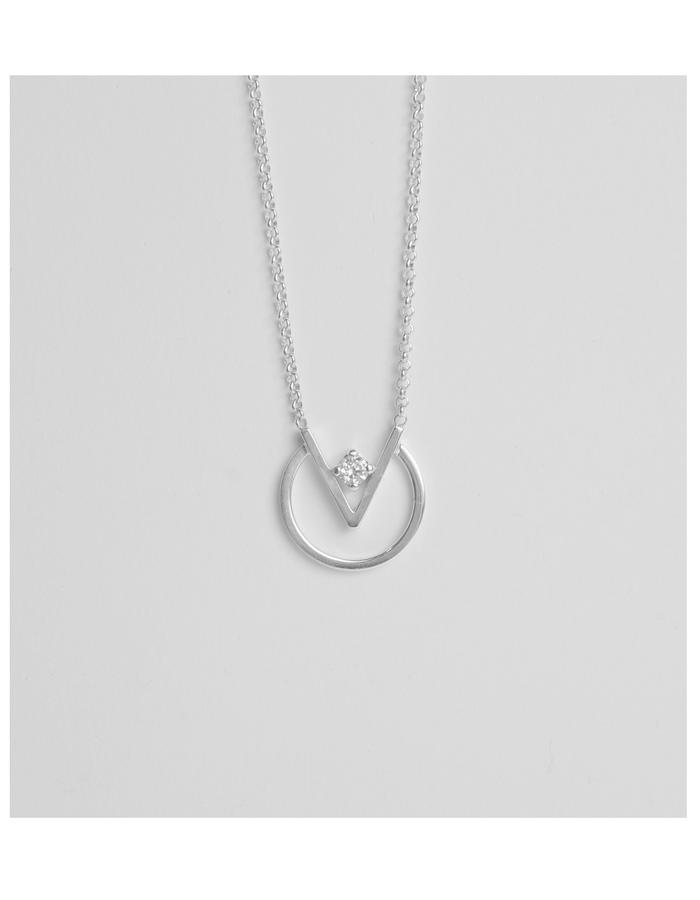 Silver necklace minimal everyday