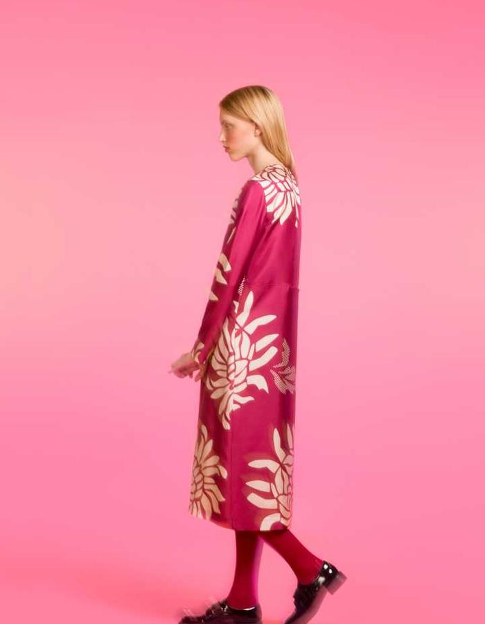 Longing For Sleep by Marit Ilison 2016 Collection II Anemone Silk Loose Back Slit Dress