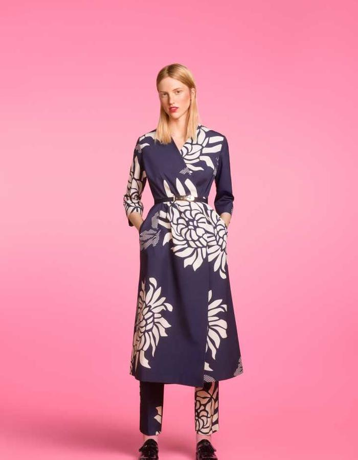 Longing For Sleep by Marit Ilison 2016 Collection II Navy Cotton Smock Dress