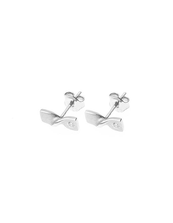 Minimal delicate silver earrings