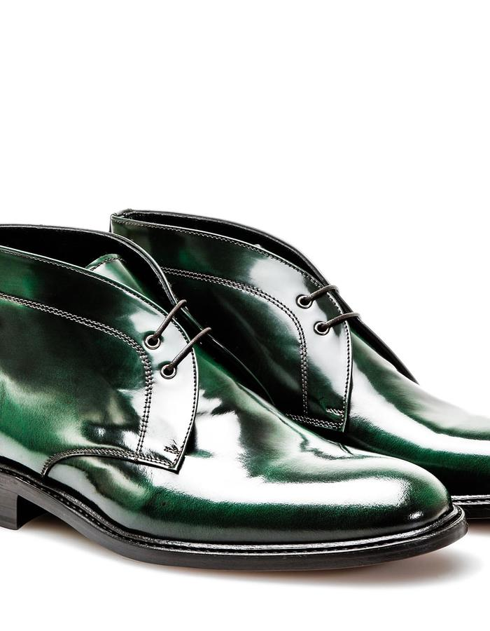 Marco Polo - Desert Boot - Polished Green
