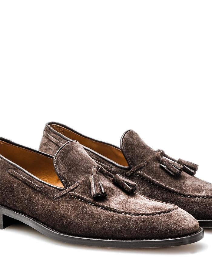 Romeo - Tassel Loafer - Suede Coffee