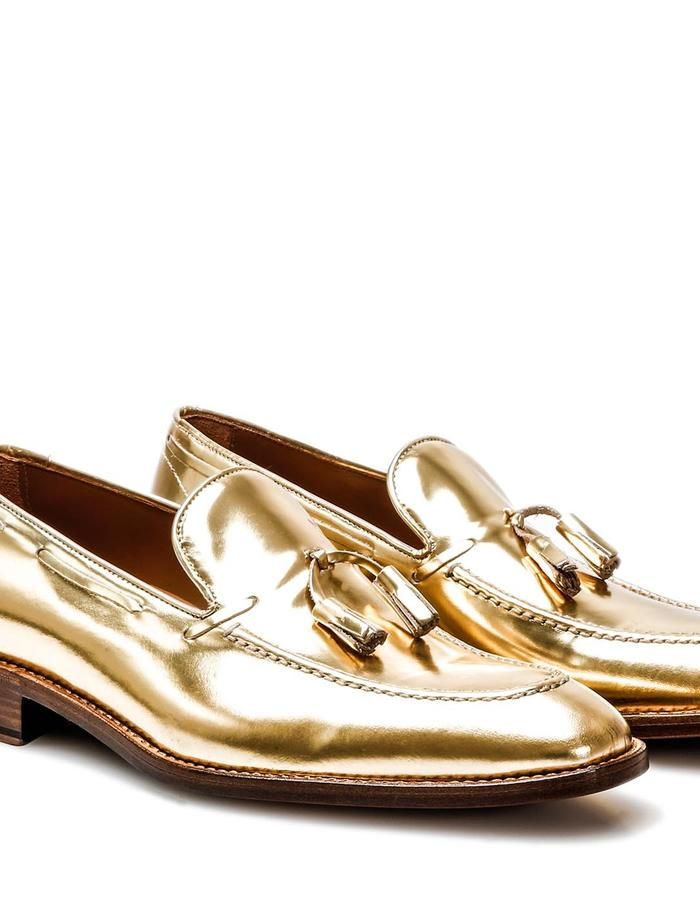 Romeo - Tassel Loafer - Shiny Gold