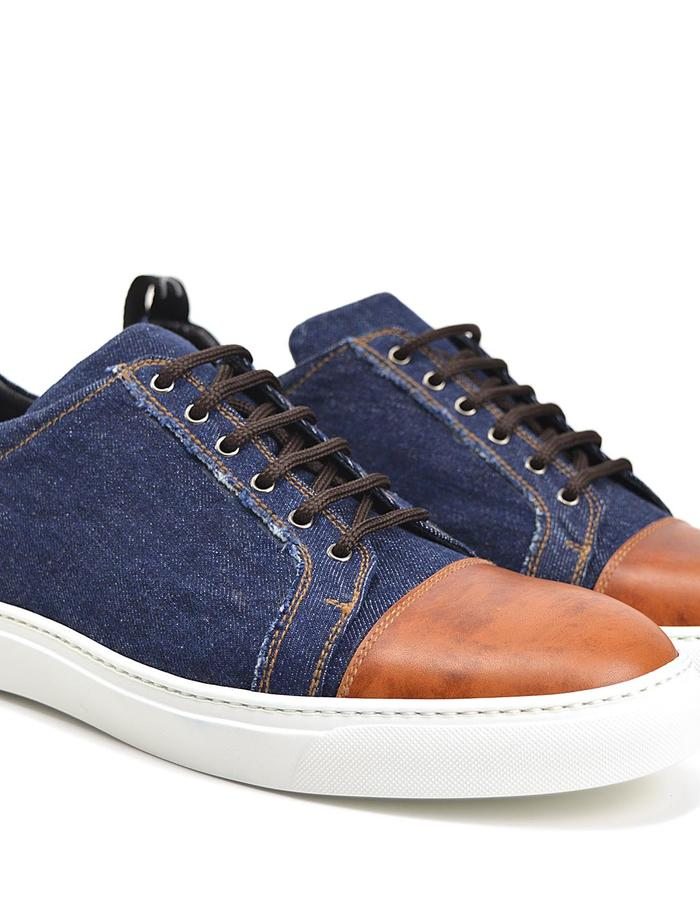 Pietro - Low Top Sneaker- Deco Denim