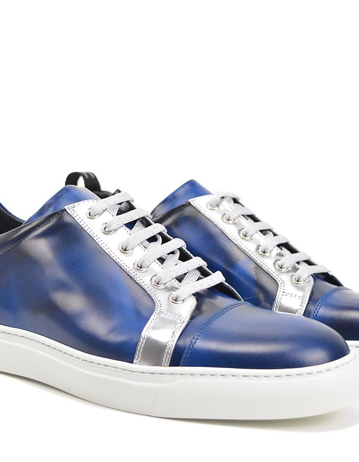 Pietro - Low Top Sneaker - Blue Silver