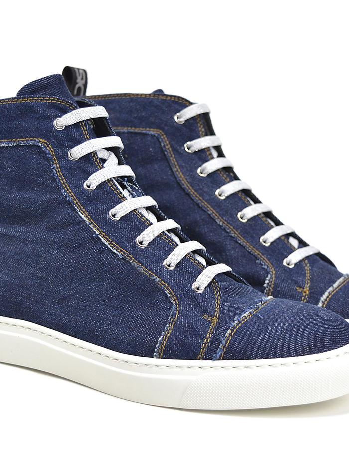 Gianmarco - Hi Top Seaker - Denim Dark