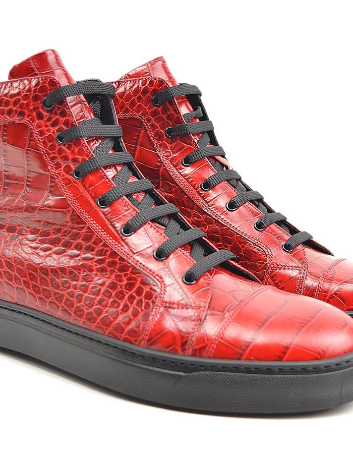 Gianmarco - Hi Top Seaker - Croco red