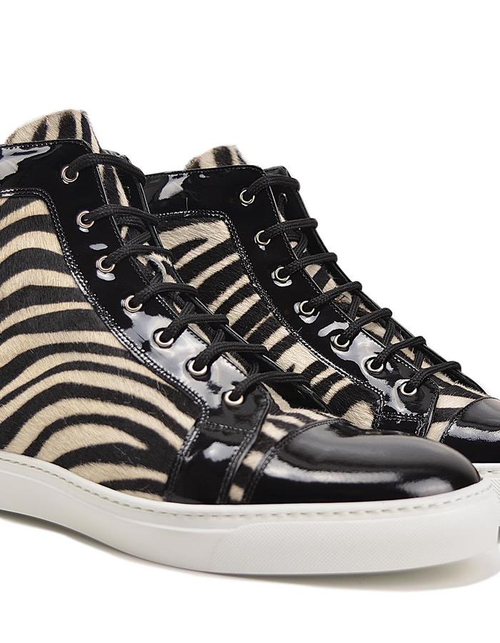 Gianmarco - Hi Top Seaker -Zebra Black