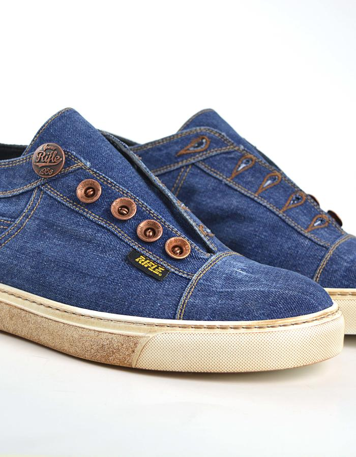 DIS - Giulio Slipon Sneaker Washed Denim Light