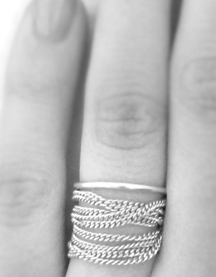 ring and necklace of chain silver by NOTHING