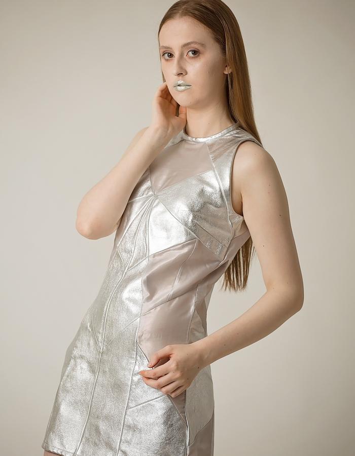 KYREE FORREST | Silver Patchwork Dress