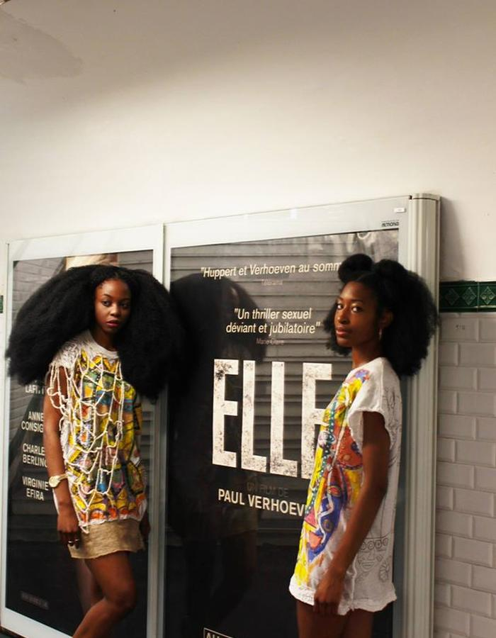 """Afro Girls in Paris"" Design Erwin Michalec Model Kiera-Lorelle Rhomes & Juste Whitneey Senga Photo Andie Senga"
