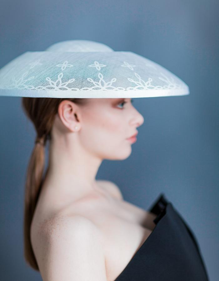 Sally-Ann Provan Millinery SS16 Collection – Vector Lotus, 'Rai' Hat