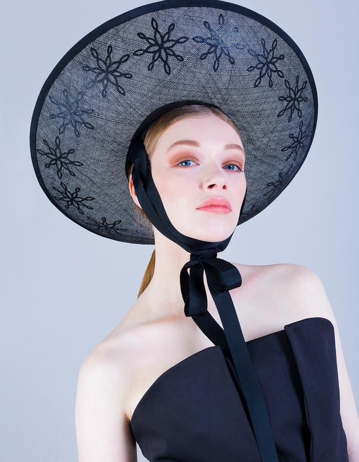 Sally-Ann Provan Millinery SS16 Collection – Vector Lotus, 'Namika' Hat