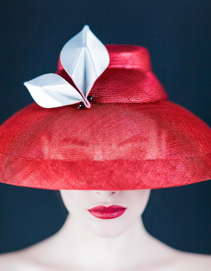 Sally-Ann Provan Millinery SS16 Collection – Vector Lotus, 'Mirai' Hat