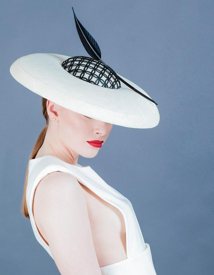 Sally-Ann Provan Millinery SS16 Collection – Vector Lotus, 'Amaya' Hat