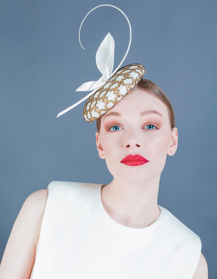 Sally-Ann Provan Millinery SS16 Collection – Vector Lotus, 'Chie' Hat
