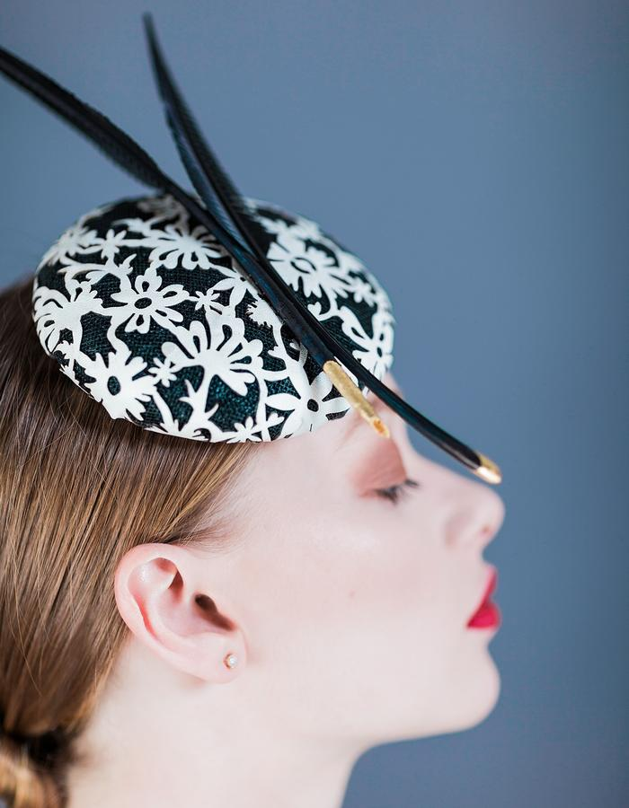 Sally-Ann Provan Millinery SS16 Collection – Vector Lotus, 'Hana' Hat