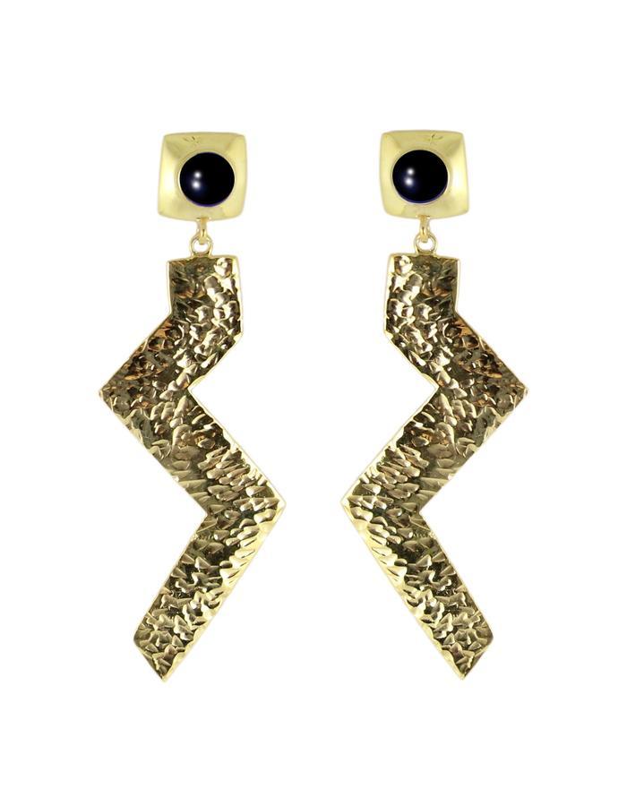 Zig earrings by Sollis jewellery