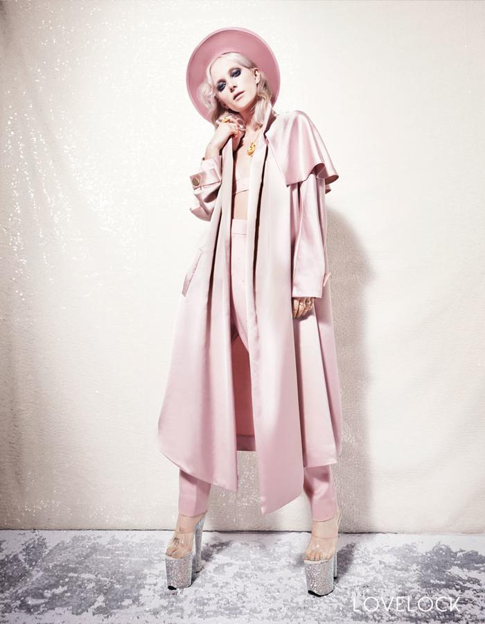 Lovelock Pink Drover's Coat - front