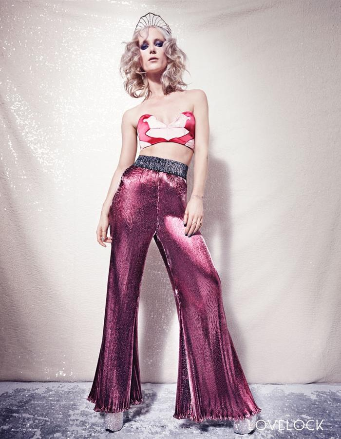 Lovelock Pink Swan Bra and Disco Flares