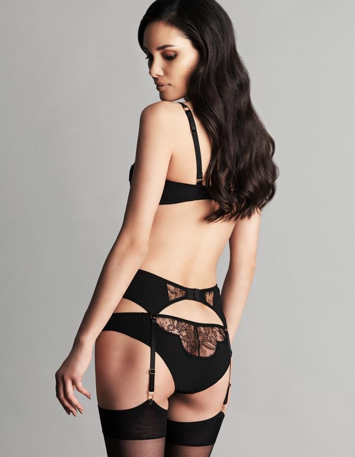 SOPHIA Crafted from the finest ornate French Chantilly lace and sumptuous Italian crepe fabrics the Sophia range is designed to enhance and flatter your curves. Sheer and opaque fabrics play with the concept of reveal and conceal to pleasing effect.