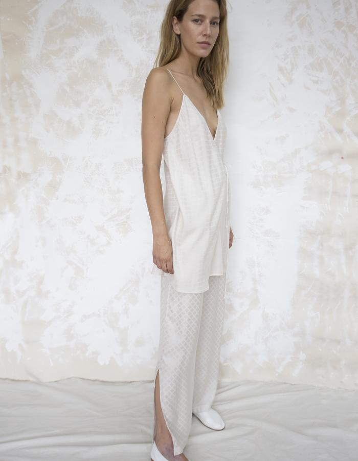 ANNECY WRAP SLIP DRESS & RENNES TROUSER