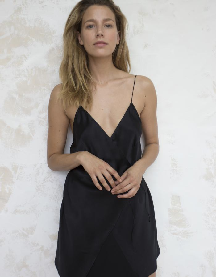 ANNECY WRAP SLIP DRESS