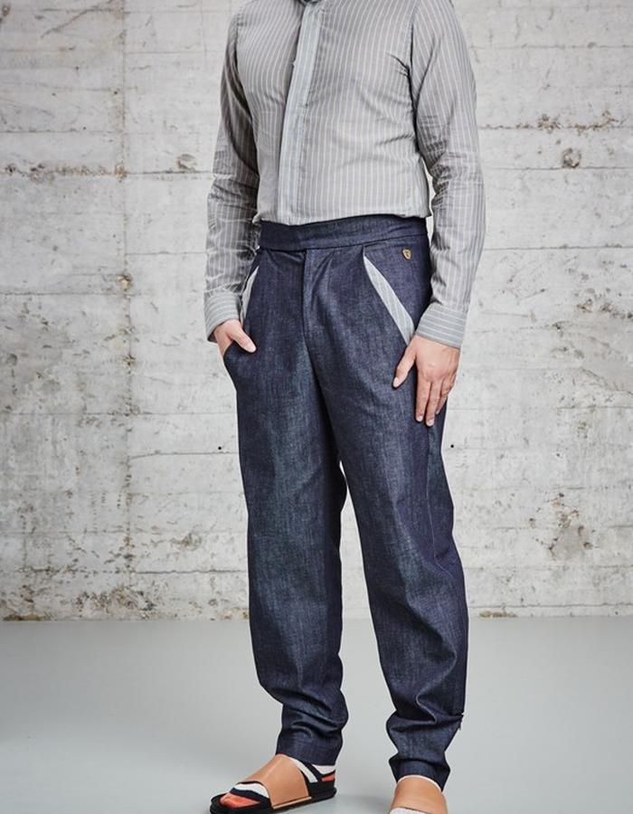 organic denim trousers, £205