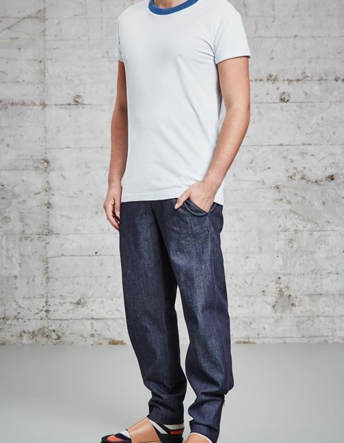 organic pique light blue t-shirt, £95