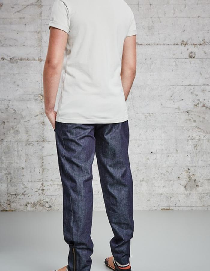organic pique sand colour t-shirt, £95