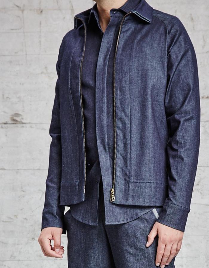 organic denim jacket, £285