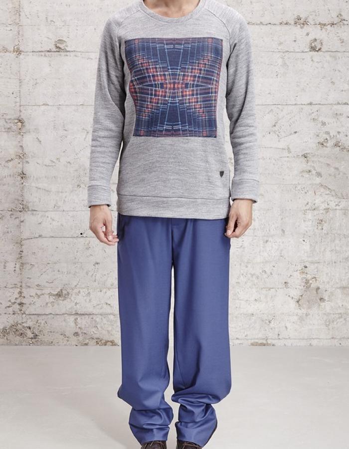 crew neck sweater with digital print, £125