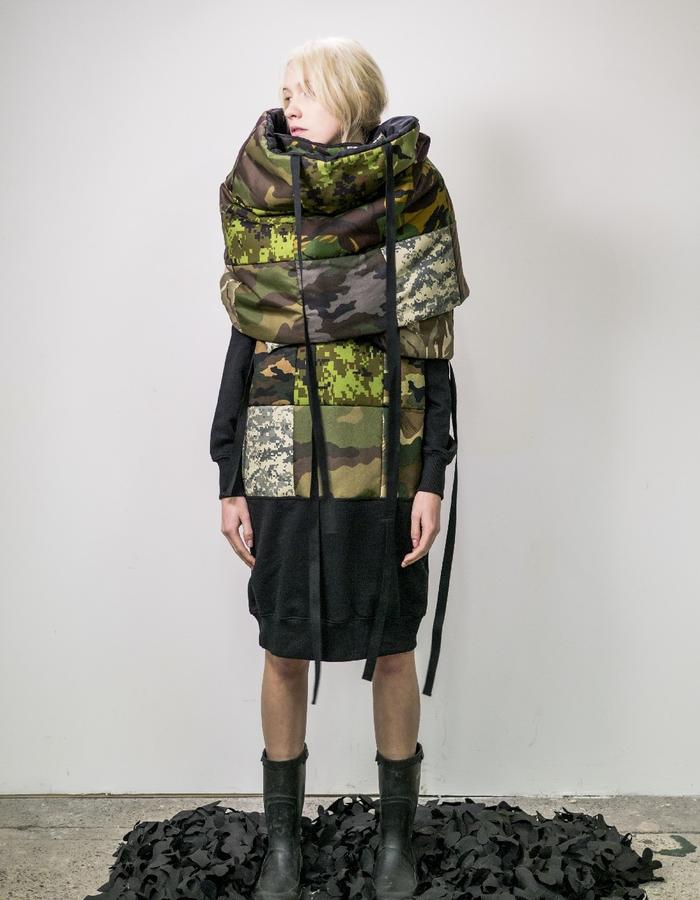 James Hock Patchwork Quilt Wrap - Camouflage
