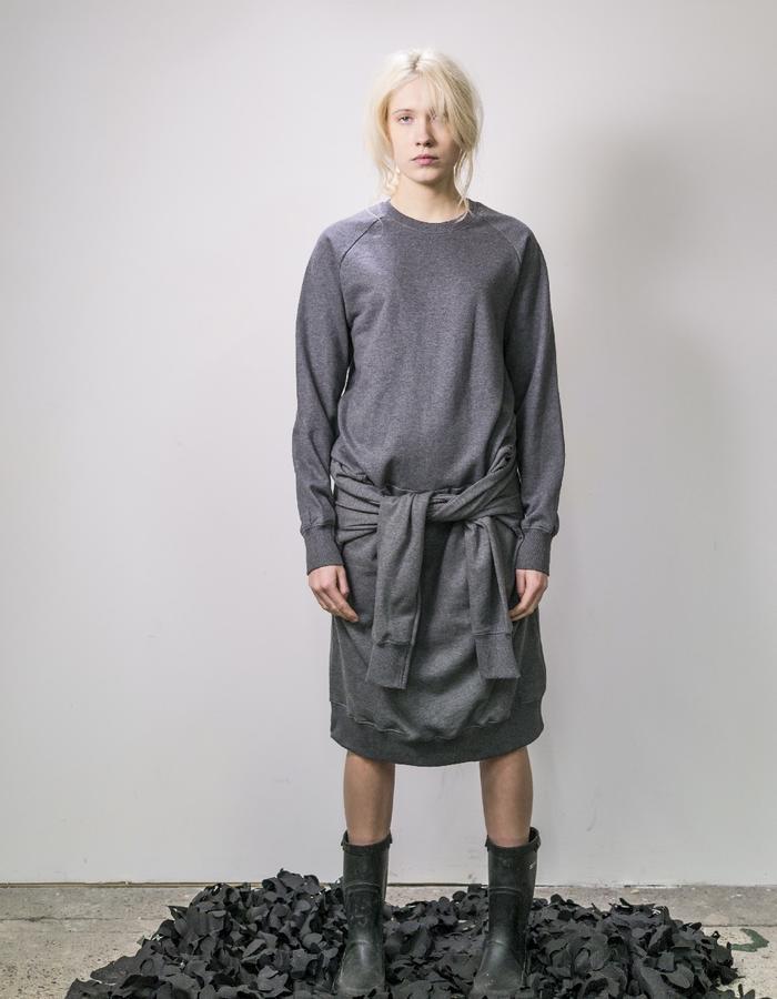 James Hock Grey Sweatshirt Dress