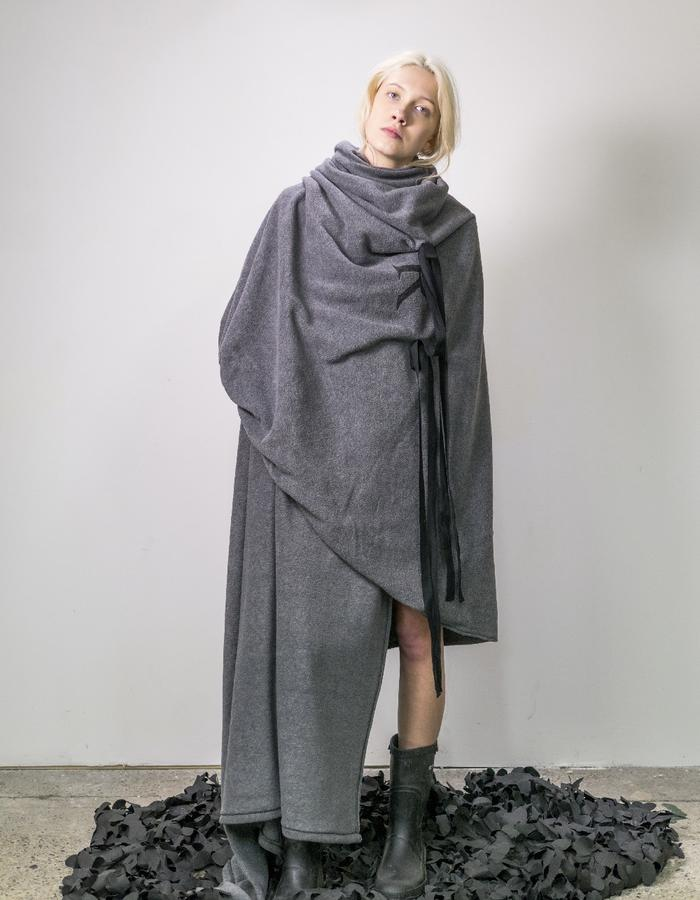 James Hock Oversized Fleece Blanket Wrap