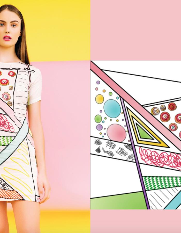 EKTA Lookbook Summer Playhouse- Digital Print Dress
