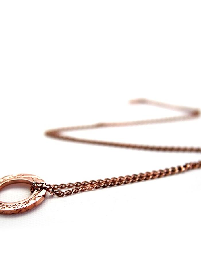 Hoop Pendant in Rose Gold