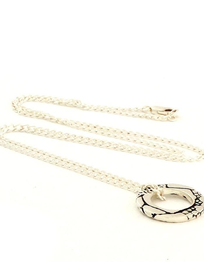 Hoop Pendant in Silver