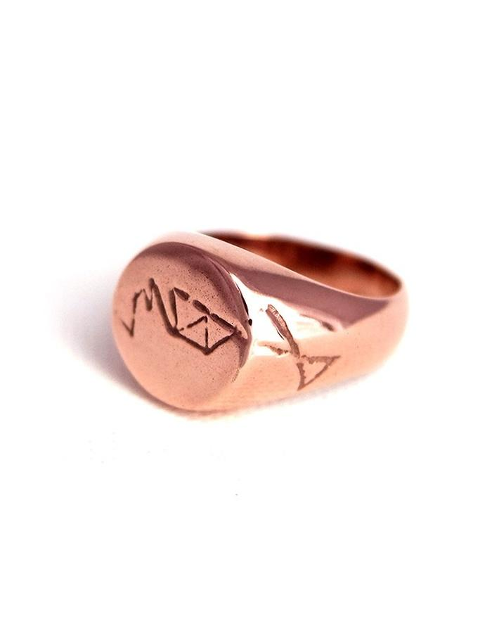 Signet Ring is Rose Gold