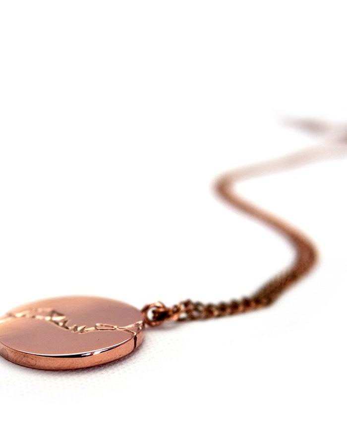 Stingray Leather Pendant in Rose Gold